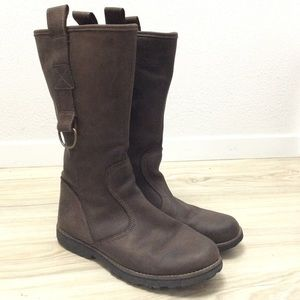 Timberland Girls Boots Tall Leather Shoes Size 5